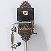 "A norwegian ""elektrisk bureau"" wall mounted telephone modell year 1898."