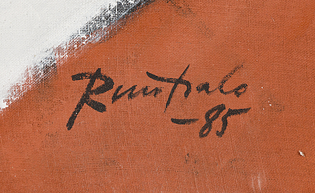 Eino ruutsalo, acrylic on canvas, signed and dated -85.