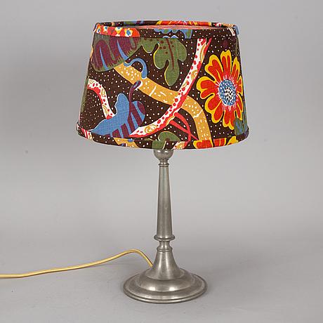 Estrid ericson, probably. a model 334 pewter table lamp, svenskt tenn, stockholm, 1927.