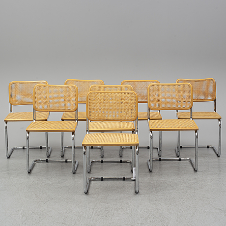 A set of eight late 20th century chairs.