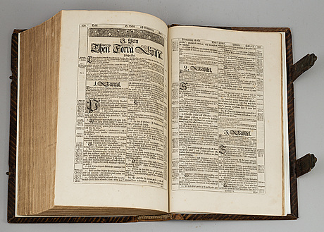 """Karl xii:s bibel, """"biblia, thet är all then heliga skrift på swensko...."""", stockholm 1702-1703."""