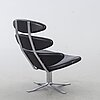 A 'corona ej 5' easy chair by  by poul volther for erik jørgensen, denmark. around year 2000.