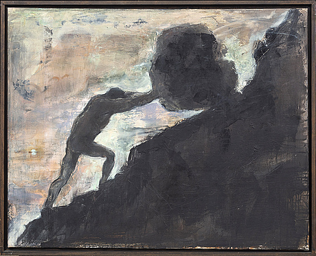 Louise fenger-krog, oil on canvas, signed and dated on the reverse.