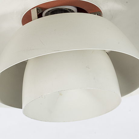 """A pair of metal ceiling light """"ph 4/3"""" designed by poul henningsen for louis poulsen, second half of the 20th century."""