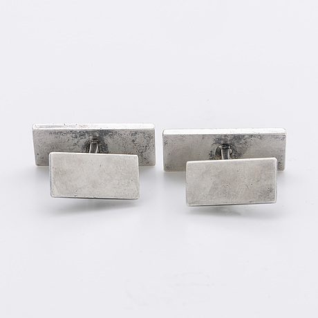 Wiwen nilsson, cufflinks, sterling silver, lund 1961.