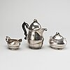 A swedish 20th century 3 pcs silver coffee service mark of gab stockholm 1933-37-38, total weight ca 860 gr.