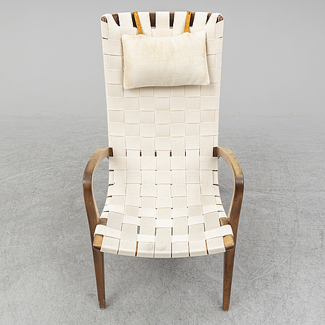 Bruno mathsson, a 'gräshoppan' easy chair, mathsson international, 1992.