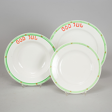 "A part 'god jul' porcelain christmas service, ""old gustavsberg"", rörstrand. (39 pieces)."