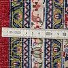 Matta, orientalisk merceriserad bomull, ca 238 x 155 cm.