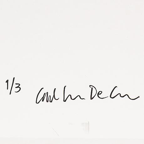 Carl johan de geer, fotografi signerat och numrerat 1/3 på ramens baksida.
