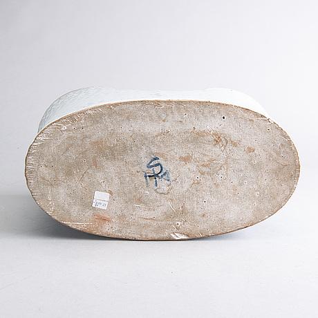 "Signe persson-melin,stengods, urna, ""barca"", monogramsignerad."