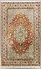 A ghom silk carpet ca 300 x 197.