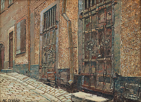 Hjalmar strÅÅt, oil on panel, signed and dated 1955 verso.