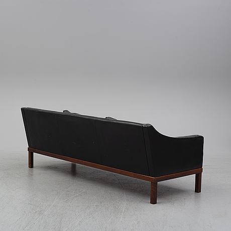 A leather sofa by ope möbler, 1960's.