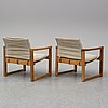 A pair of 'diana' armchairs by karin mobring for ikea, 1972.