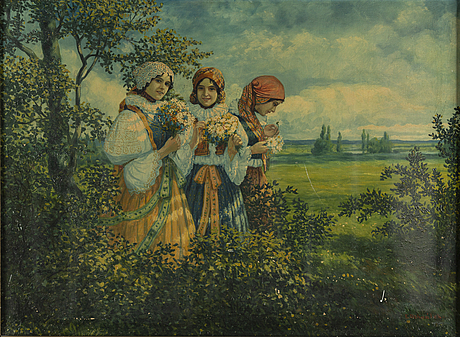 Karel dohnalek, olja på duk, signerad.