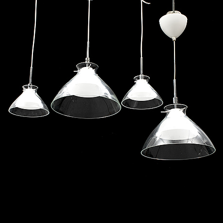 Four belid ceiling lamps.