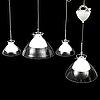 Four belid ceiling lamps.