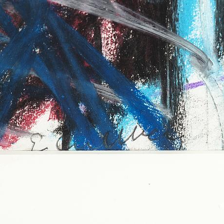 Erland cullberg, pastel, signed.