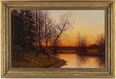 Edvard rosenberg, oil on canvas, signed.