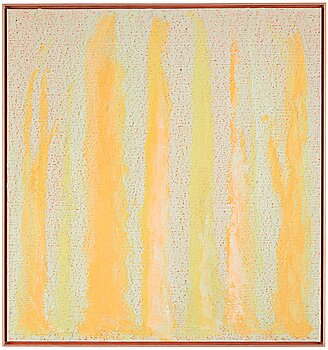 "Anders Knutsson, ""Playing with light - on the surface of flatness"". Signed and dated 2008 on verso. Oil and fluorescent colour..."