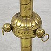 A brass champagne cooler, 1800's.