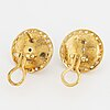 ÖrhÄngen, ett par. 18k guld med mabepärlor och briljanter.