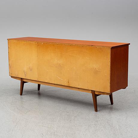A swedish teak veneered sideboard, 1950's/60's.
