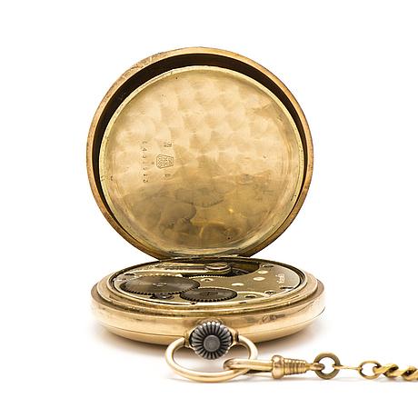 Omega fickur, 14k guld, 50 mm.