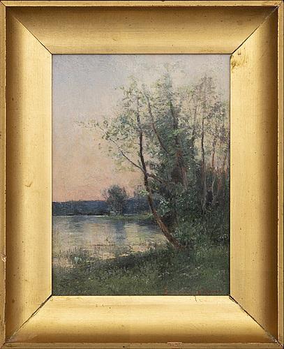 Severin nilson, oil on panel, signed.