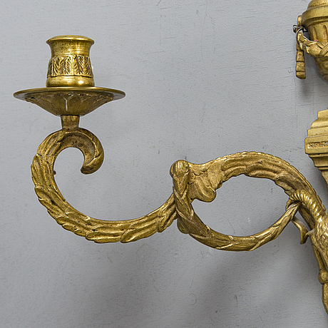 A pair of early 20th century wall candelabra.