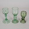4+3+3 glasses, 19th/20th century.