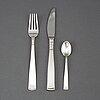 Jacob Ängman, 36 psc silver cutlery 'rosenholm', gab, some eskilstuna 1978.