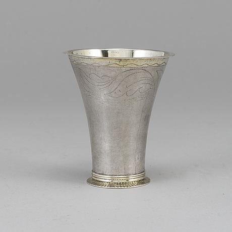 Nils tornberg, a silver beaker, linköping 1793.