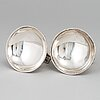 A pair of empire silver salts, sweden first half of the 19th century and with later control marks.