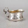 A silver art nouveau creamer,  k bourdette, kristianstad 1926.