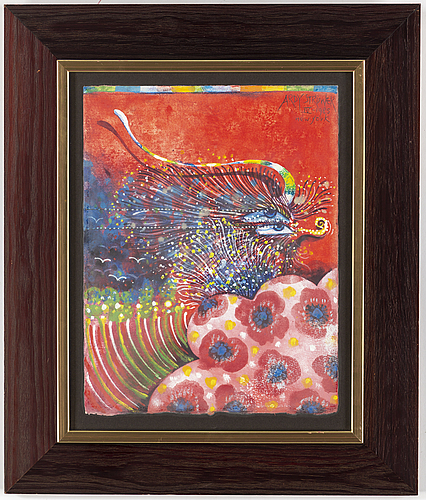 Ardy strÜwer, gouache/watercolour, signed and dated new york 1985.