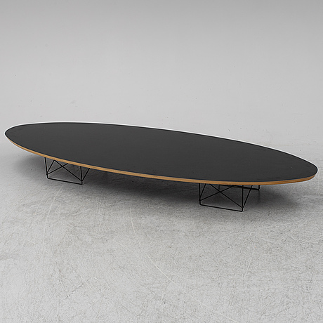 Charles and ray eames, a 'surfboard' coffee table.
