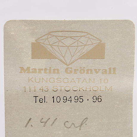 Old_cut diamond, loose stone, approx 1,4 ct approx k si.