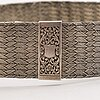 A woven silver belt, presumably tblisi, russian hallmarks from around the turn of the 20th century.