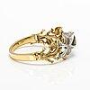 Rannekoru, 18k valko- ja keltakultaa, timantteja n. 2.74 ct yht, vihreitä granaatteja, keltaisia safiireja.