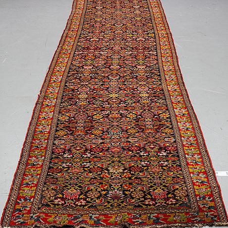 A runner, antique, karabagh, around 560 x 122 cm.