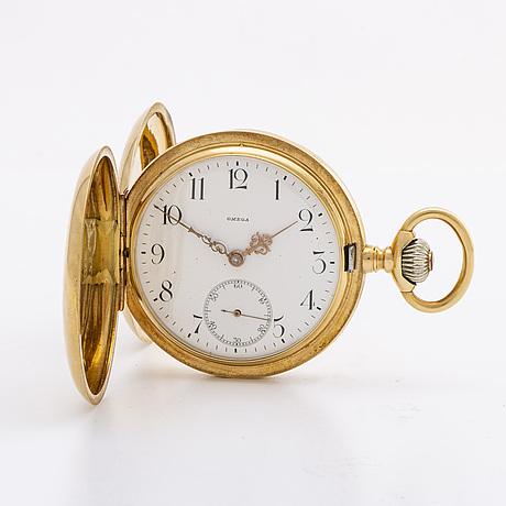 Omega pocket watch, riding case 18k, 51 mm.