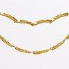 "Lapponia neckalce 18k gold ""tundra"" finland 1997."