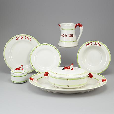 42 psc porcelaine 'jul', gustavsberg.