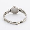 Iwc ladies wristwatch, 18k whitegold, 2 brilliant-cut diamonds approx 0,06 ct in total, 15 mm , manual.