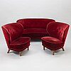 A mid 1950's sofa and a pair of armchairs.