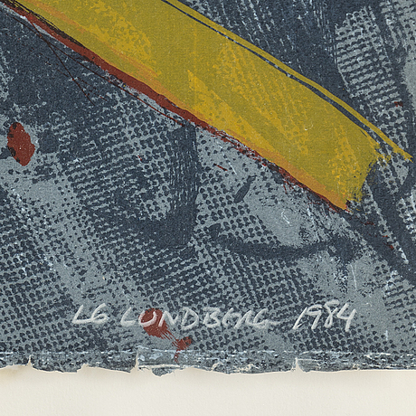 Lg lundberg, lithograph in colors, 1984, signed and numbered ap vii/x.