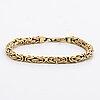 Bracelet 18k gold byzantine chain, 10,8 g.