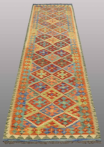 A runner, kilim, ca 295 x 81 cm.
